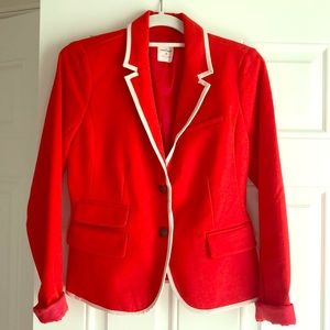 "Gap ""The Academy Blazer"" in Orange With White Trim"